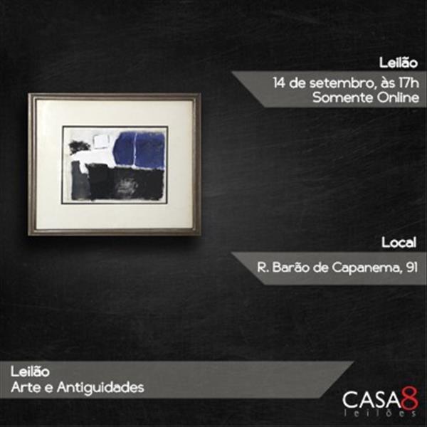 000252 - Leilão Arte e Antiguidades - 14/09/2020